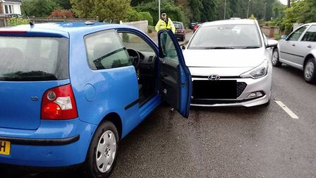 Accident on Longwater Lane in Coestessey. Picture:Todd Henderson