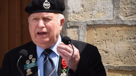 Norwich and district Normandy Veterans Association secretary, Jack Woods, thanks the residents at Ro