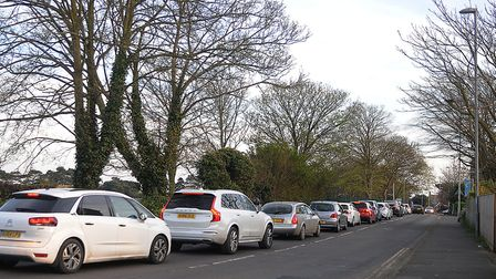 Traffic backed up on the A149 coast road at Hunstanton. Picture:Chris Bishop