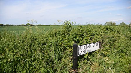 There are plans to build 950 new homes off Rudham Stile Lane in Fakenham. Picture: Ian Burt