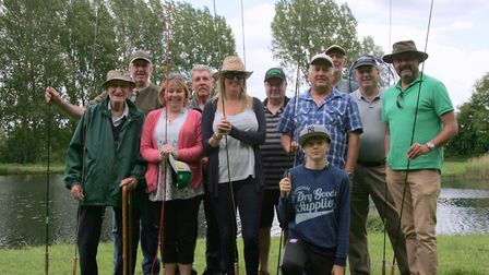 Big smiles from 88-year-old Don Chapman, far left, and froends at East Tuddenham. Picture: Tony Hull