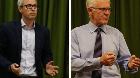 Conservative candidate James Wild and North Norfolk MP Norman Lamb. Picture: Ally McGilvray