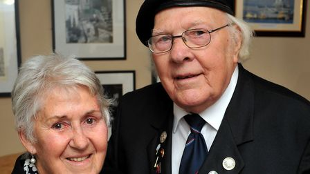 Kitty Burge pictured with her husband, Normandy veteran Reg Burge. Photo: Bill Smith