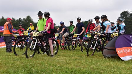 The EACH Ride For Life from Thetford Forest 2016.