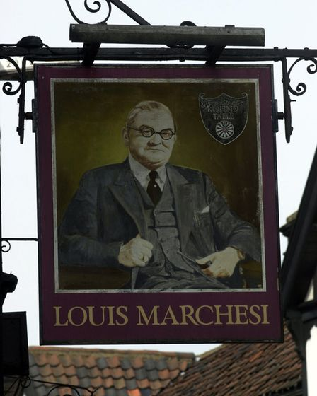 The Louis Marchesi pub in Tombland, Norwich in the 1990s.
