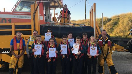 The Caister Scouts enjoyed meeting the lifeboat crew and going out to sea. Pictures supplied by Lis