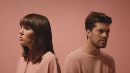 Screengrab from Oh Wonder's Without You Music Video. Photo shows Josephine Vander Gucht and Anthony
