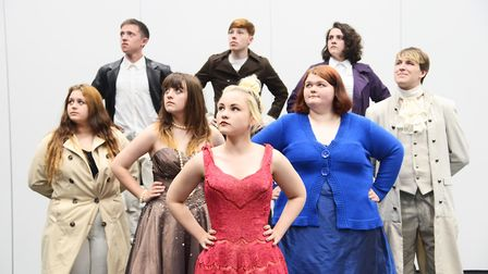 Musical Theatre students at the College of West Anglia working towards their final major project of