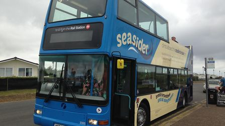 The Seasider open top bus in Great Yarmouth on its maiden voyage Photo: George Ryan