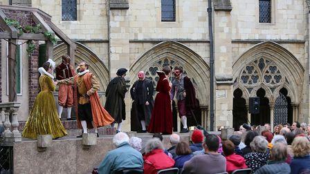 Shakespeare Festival at Norwich Cathedral. Photo: Paul Hurst.