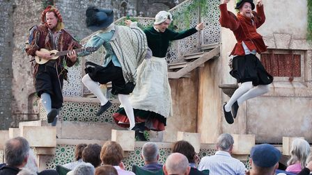 The Lord Chamberlain's Men performing their previous production of Twelfth Night. Photo: Farrows Cr