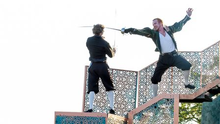 The Lord Chamberlain's Men performing their previous production of Romeo and Juliet. Photo: Farrows
