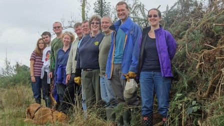 Friends of Thetford Forest conservation volunteers. Picture: ALAN SPIDY