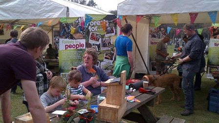 Friends of Thetford Forest helping at Discovery Day at the High Lodge Centre in 2014. Picture: DAVE