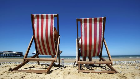 Deck chairs on Cromer Beach as the Association of British Insurers says �370m was paid out in travel