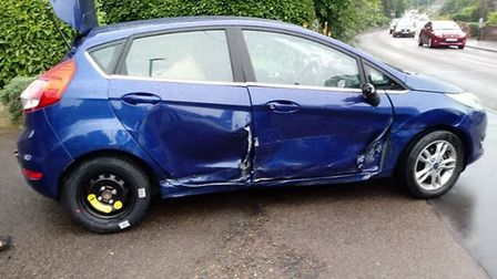 Accident on Longwater Lane Norwich. Picture:Todd Henderson