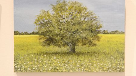 85 miniature paintings by artist Garry Raymond-Pereira are on display at Mandell's gallery in Norwic