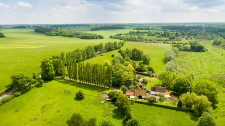 Aerial view of the Stoke Holy Cross property.