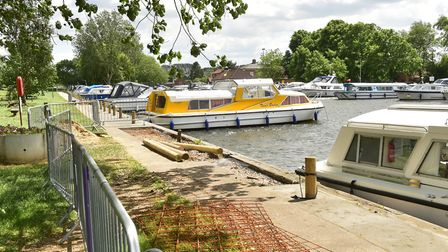Work has started on repairs and improvements to Beccles Quay.