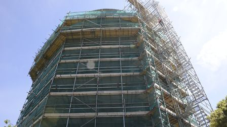 Southwold water tower under refurbishment. Picture: Essex and Suffolk Water