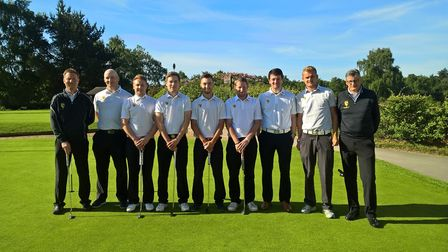 The Norfolk second team pictured at Woodbridge on Sunday (from left to right). Ian Rollett, Darren A