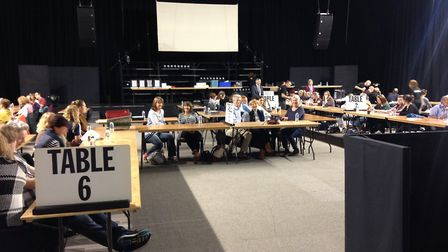 The first of the ballot boxes for Norwich North have arrived at the Space in Sprowston. Photo: Luke
