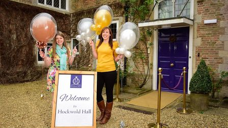Becky Enefer and Sophie Hall are hosting a fundraising ball at Hockwold Hall. Picture: ANGIE SHARPE