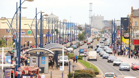 The golden mile in Great Yarmouth during the last few days of the schools summer holidays. Pictur