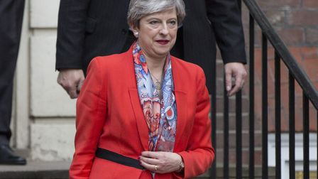 Prime Minister Theresa May leaves Conservative Party HQ in Westminster, Mrs May said Conservatives w