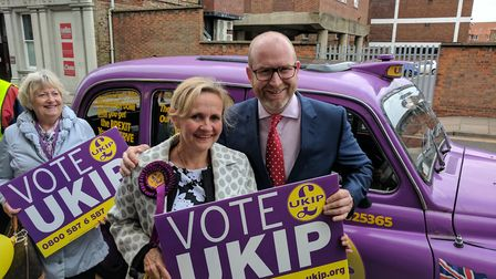 Ukip leader Paul Nuttall visits Great Yarmouth on the last day of the election campaign. Photo: Geor