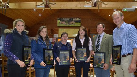 The Chris Lewis Award 2017. Pictured from left are finalists Emma Germany, Jade Lanham, Michelle Lak