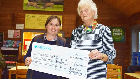 The Chris Lewis Award 2017. Pictured: Winner Michelle Lakey (left) receives her prize from Jane Lewi