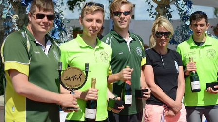 Beccles Triathlon team winners The Hangover. Picture: Andrew Florides