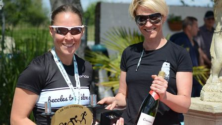 Beccles Triathlon fastest female Vicki Grice. Picture: Andrew Florides