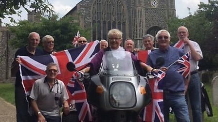 Ditchingham Mens' Shed members preparing for the proms extravaganza in Bungay. Picture: Terry Reeve.