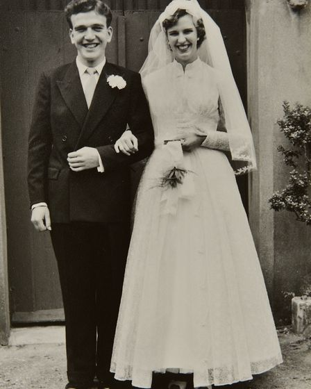 Diamond wedding couple Norman and Gillian Wales from Beccles.