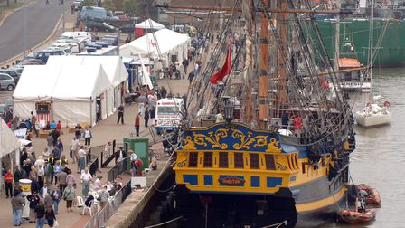 Great Yarmouth Maritime Festival. The Grand Turk. Photo: Bill Darnell Copy: Jonathan Redhead For: