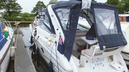 Love for Lydia, the boat on which two people and their dog were found dead on the Broads. Picture: M
