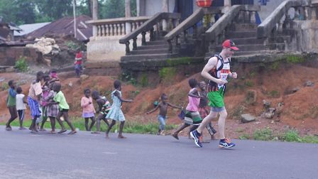 The route goes through the villages surrounding the city of Makeni, Sierra Leone. Photo: Jillian Fos