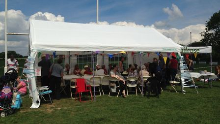 Visitors enjoy the fun at the second annual Wymondham Community Picnic. Picture: Courtesy of Ramona