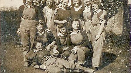 Land girls employed on local farms during the war. Picture: Waveney and Blyth Arts.