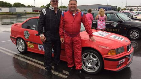 Chris Sait and Trevor Gowing from the Wigg Motor Engineers and Wheels and Tyres Direct team. Picture