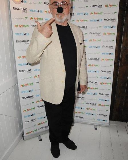 Actor and animal campaigner Peter Egan at the Wetnose Day launch. Picture: Courtesy of Wetnose Anima