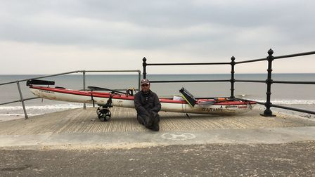 Ex army soldier Andy Swainston is kayaking the British coast. Picture ELEANOR PRINGLE