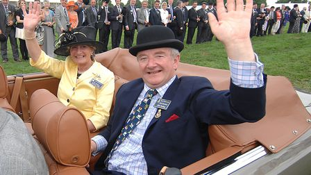 Royal Norfolk Show chief executive John Purling with show manager Sarah de Chair during their lap of