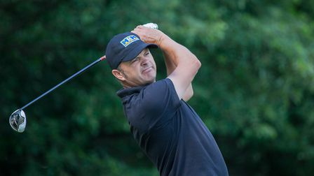 Andrew Marshall on his way to an impressive win in the East PGA pro-am at West Essex. Picture: Tony