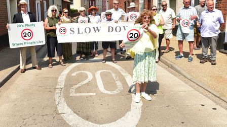 Beccles residents are unhappy that the police will not allow them to carry out speed checks in 20mph