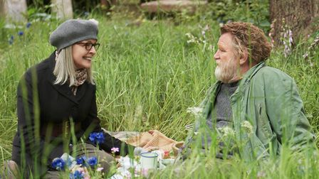 Diane Keaton as Emily Walters and Brendan Gleeson as Donald Horner in Hampstead. Picture: Nick Wall/