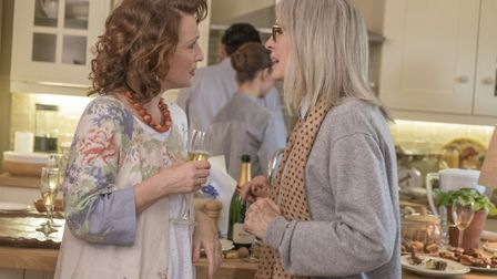 Lesley Manville as Fiona and Diane Keaton as Emily Walters in Hampstead. Picture: Nick Wall/Entertai