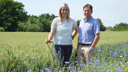 Frontier Agriculture's trials site at Honingham Thorpe Farms. Pictured is agronomist Emily Page and